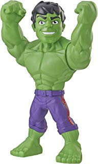 """Super Hero Adventures Playskool Heroes Marvel Mega Mighties Hulk Collectible 10"""" Action Figure, Toys for Kids Ages 3 & Up"""