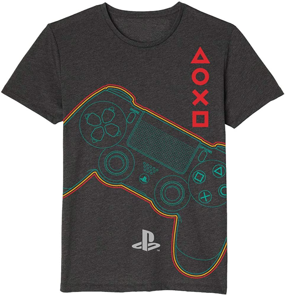 Playstation Boys Gamepad Controller Buttons Graphic Icons Short Sleeve Tee for Kids