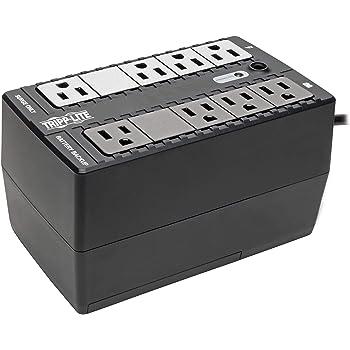 Tripp Lite 500VA UPS Battery Backup Surge Protector, Small UPS, Desktop UPS, 8 Outlets, 5 ft. Cord, Black (BC500)