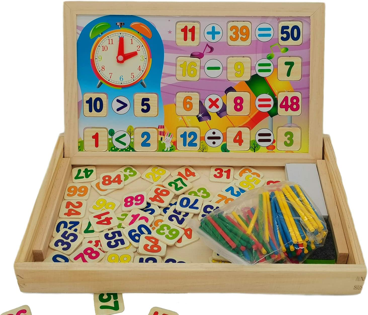 Wooden Learning Toys Puzzles Numbers Magnetic Educational Puzzle New arrival NEW