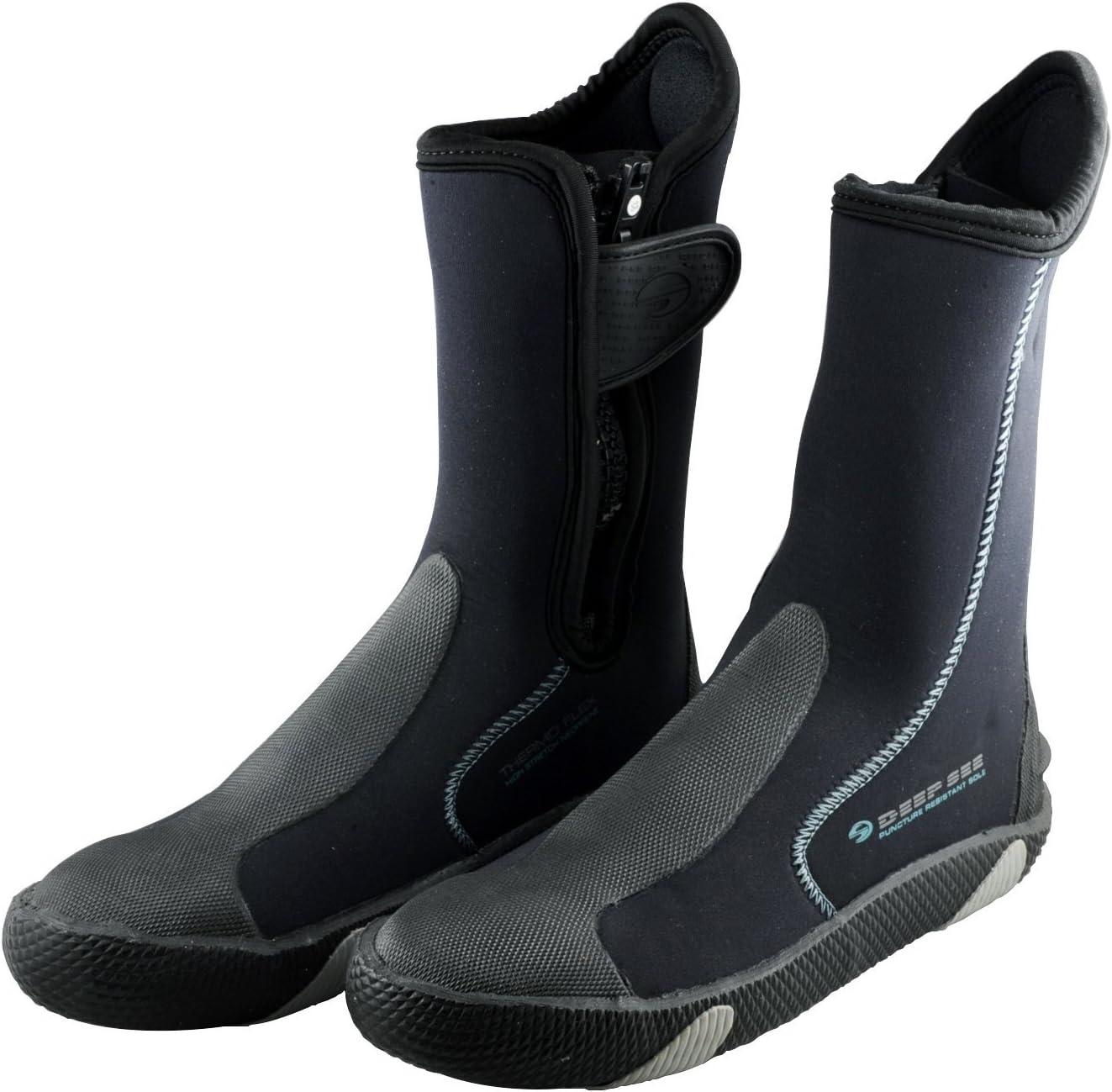 Deep See Man Safe Sole Boots-5 Latest item Dive Save money 5mm Zipper