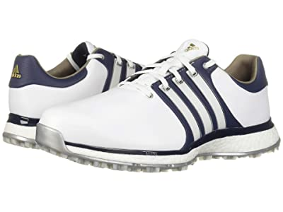 adidas Golf Tour360 XT Spikeless (Footwear White/Collegiate Navy/Gold Metallic) Men