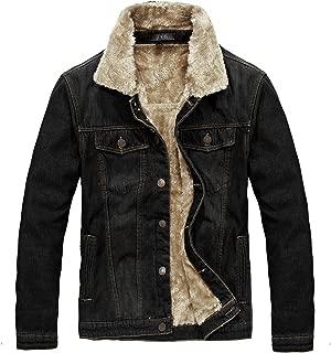 Men's Winter Thicken Sherpa Lined Denim Jacket