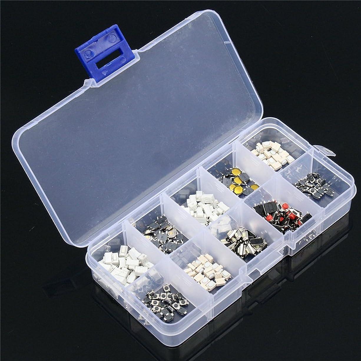 補うアサート賠償zmart マイクロスイッチ 250個 10種類 プッシュ ボタン SMD