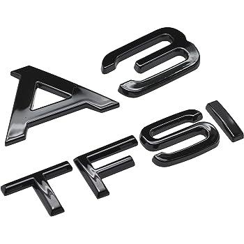 Schwarz gl/änzend A3 TDI Beschriftung Stiefel Deckel Kofferraum Abzeichen Emblem Zum A3 Modelle