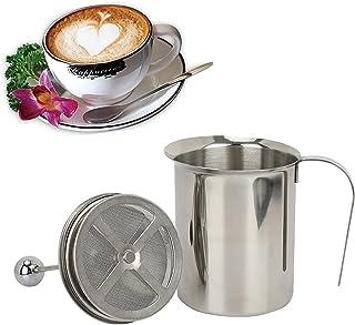 Handmatige Roestvrijstalen Melkopschuimer Handmatig Melkschuim Melkopschuimer Melkschuim Cappuccino 1 Set Roestvrijstalen ...