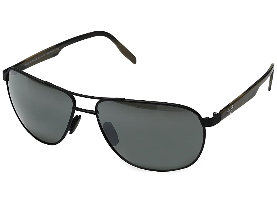 Maui Jim Castles (Matte Black/Neutral Grey) Polarized Fashion Sunglasses