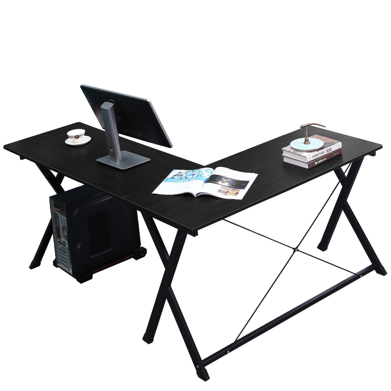 EUGAD 0074ZZ Table de Bureau Table dordinateur Table de Travail en MDF et m/étal 90x50x73cm,Ch/êne Clair