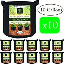 AROMA TREES Round Plant Grow Bags Heavy Duty Thickened Fabric Pot Grow Bags with Handles for Gardening Pots, Aeration Container, Planters Healthy Root System (10-Pack 10 Gallon)