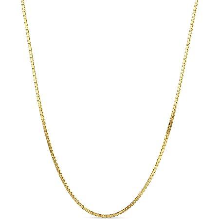 Miore Cadena veneciana para mujer, oro amarillo de 9 quilates, oro 375, longitud 45 cm