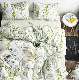 YZZ COLLECTION Queen Bedding Duvet Cover Set, Premium Microfiber,Botanical Pattern On Comforter Cover-3pcs:1x Duvet Cover 2X Pillowcases,Comforter Cover with Zipper Closure (Full/Queen)