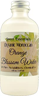 Organic Moroccan Orange Blossom (Neroli) Water   4oz Glass Bottle   Imported From Morocco   Food Grade   Packed With Natural Antioxidants   Perfect for Hydrating & Rejuvenating Your Face & Neck
