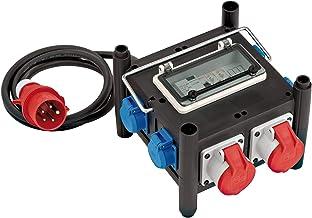 Brennenstuhl compacte rubber stroomverdeler met gecertificeerde automaat, 2m kabel, 2x CEE 400V/16A, 5x 230V/16A, bouwplaa...