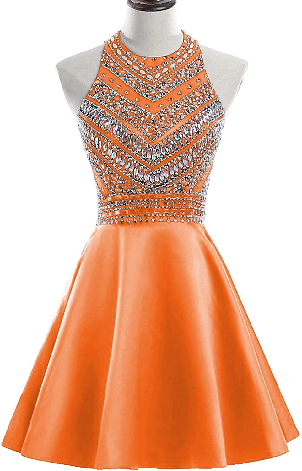 ANFF Women's Homecoming Dresses 2018 Short Beaded Bodice Formal Party Gowns