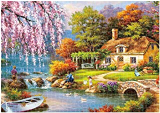 Rusilay Jigsaw Puzzles,Picture Puzzles for Adults 1000 Piece,Landscape Jigsaw Puzzle,Home Picture Puzzle Games,Puzzle for Adults Kids Gift,16.5x11.7 Inch