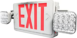 Sunlite EXIT/SU/1OR2F/R/W/COMBO/2H Two Headed Exit Light Combo