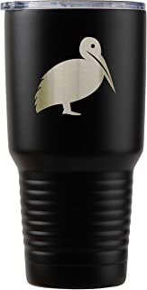 Pelican Black Stainless Steel Tumbler, 30 Oz Insulated Tumbler, Laser Etched In Usa