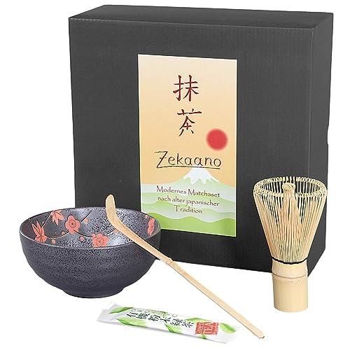 Té Matcha Juego de 3 piezas, antracita rojo, compuesto de té Matcha – Bol