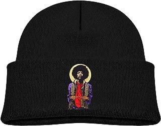 YGTRH Children's Knitted Hat Jimi Hendrix Winter Warm Skull Caps for Kids Soft Bun Beanie Black
