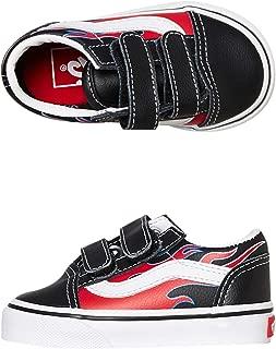 Vans Old Skool V (Moto Flame) Black/Racing RED