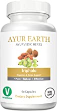Pure Triphala Powder in Vegetarian Capsules - Ayurvedic Triphala Tablets - Natural Digestion & Colon Support Supplement - Amalaki, Bibhitaki and Haritaki Supplements - 30 Day Supply (60 Capsules)