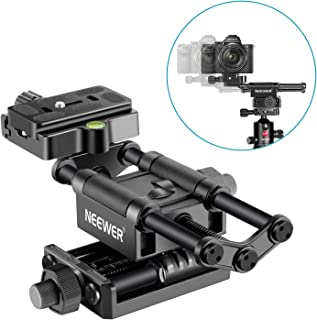 Neewer Pro 4-Way Macro Focusing Focus Rail Slider with 1/4-Inch Quick Shoe Plate..