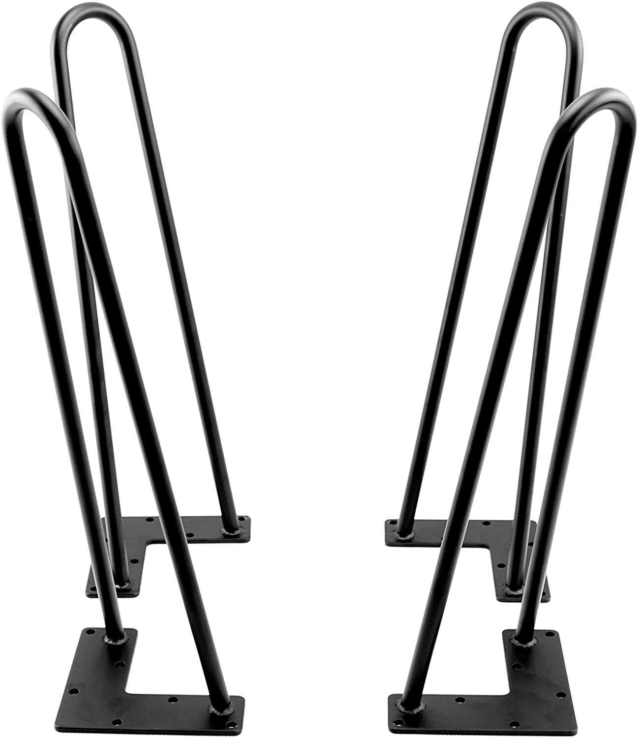 Black Hairpin Metal Table Legs,Coffee Table,Living Room Table Leg 2 Wire of 4 Pcs (71cm)