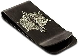 Stainless Steel Gungnir Odin's Spear Viking Norse Symbol Money Clip Credit Card Holder