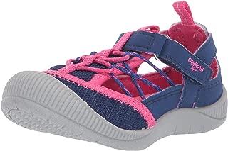 OshKosh B'Gosh Unisex-Child OS192105 Atka Girl's Mesh Athletic Bumptoe Cutout Sneaker Blue Size: