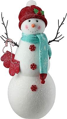 Sullivans PN2358 Snowman 14 x 12 x 10.5 Inches White