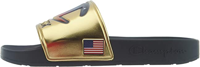 Champion Unisex Logo IPO Metallic Slide Sandals