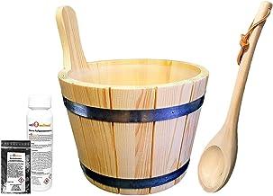 Sudorewell® Sauna Pail Sauna Emmer Zachthout 5,0 L Incl. inzet + Scoop plus Gratis Menthol Kristallen + Sauna