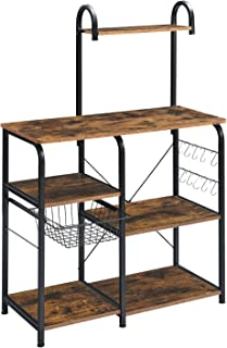 "Mr IRONSTONE Kitchen Baker's Rack Utility Storage Shelf 35.5"" Microwave Stand 4-Tier+3-Tier Shelf for Spice Rack Organizer..."