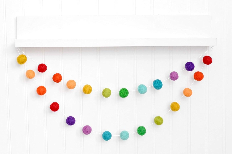 Rainbow Pom Garland - 1