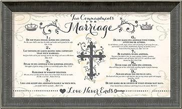 Carpentree 10 Commandments Marriage Artwork, 21 x 13