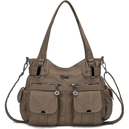 KL928 Tasche Damen Handtasche Umhängetaschen Damenhandtasche Schultertasche Lederhandtasche elegante Taschen hand taschen Henkeltaschen für frauen mit vielen fächern… (Schlamm)