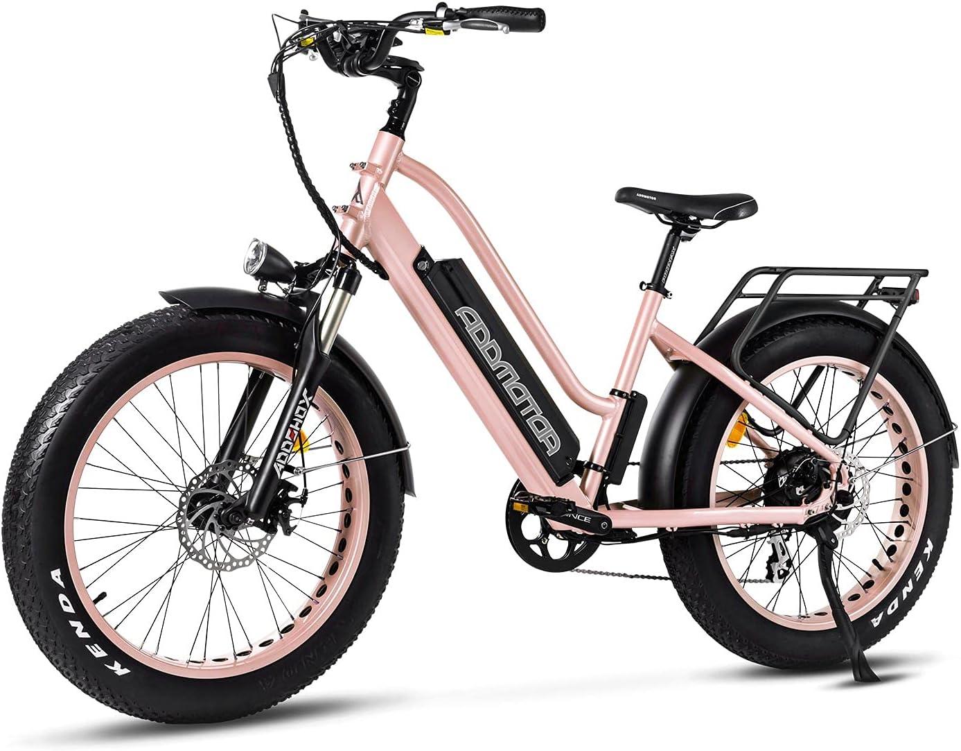 Addmotor Motan Step-Thru 70% OFF Outlet Electric Bike 28MPH Tire 24