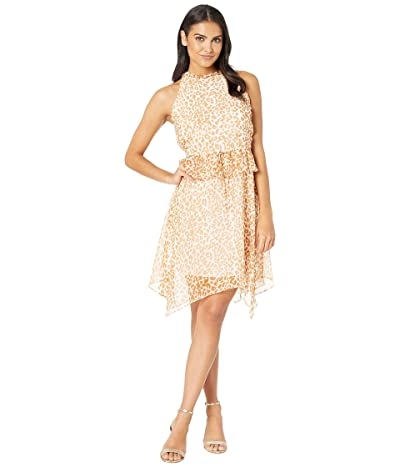 Sam Edelman Halter Hanky Hem Dress (Yellow Multi) Women