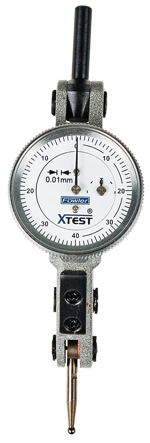 Fowler 52-562-007-0 Very popular! Horizontal White Dial 0.01 Free Shipping New x-Test Indicator