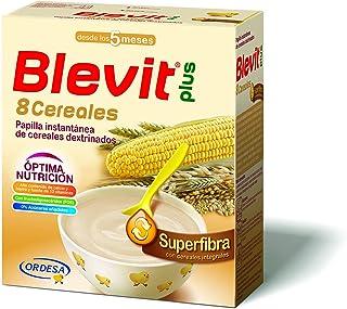Blevit Plus Superfibra 8 Cereales - Papilla de Cereales para Bebé Con Trigo Integral y Arroz Integral, Sin Azúcares Añadid...
