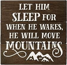let him sleep