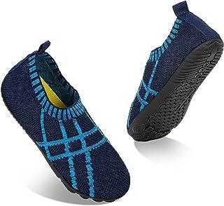 SFnwmr Zapatillas de Estar por Casa para Niños Zapatos de Interior Suela Antideslizante Suave Pantuflas de Punto Infantil ...