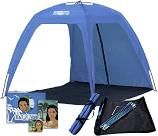 Large Open Beach Tent Cabana, 5x5 Anti UV Sun Shelter Canopy Neptune: Shade The Whole Family! Easy Up Party, Sports & Events Gazebo for Park, Garden, Patio & More, Quick Outdoor Awning for 6 People