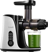 Juicer Machines, Brewsly 3-Mode 2-Speed Slow Masticating Juicer, Cold Press Juicer with High Juice Yield for Vegetables an...