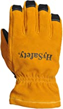 HySafety 7882XXL 3D Style Structural Firefighting Glove with Open Cuff Meets NFPA 1971-2013 Standards Leather, XX-Large, XX-Large