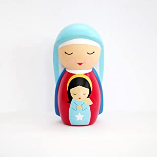 Shining Light Dolls LLC St. Anne Collectible Vinyl Figure with Story and Prayer Card