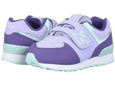 New Balance Kids IV574v1-USA (Infant/Toddler) (Clear Amethyst/Violet Fluorite) Girls Shoes