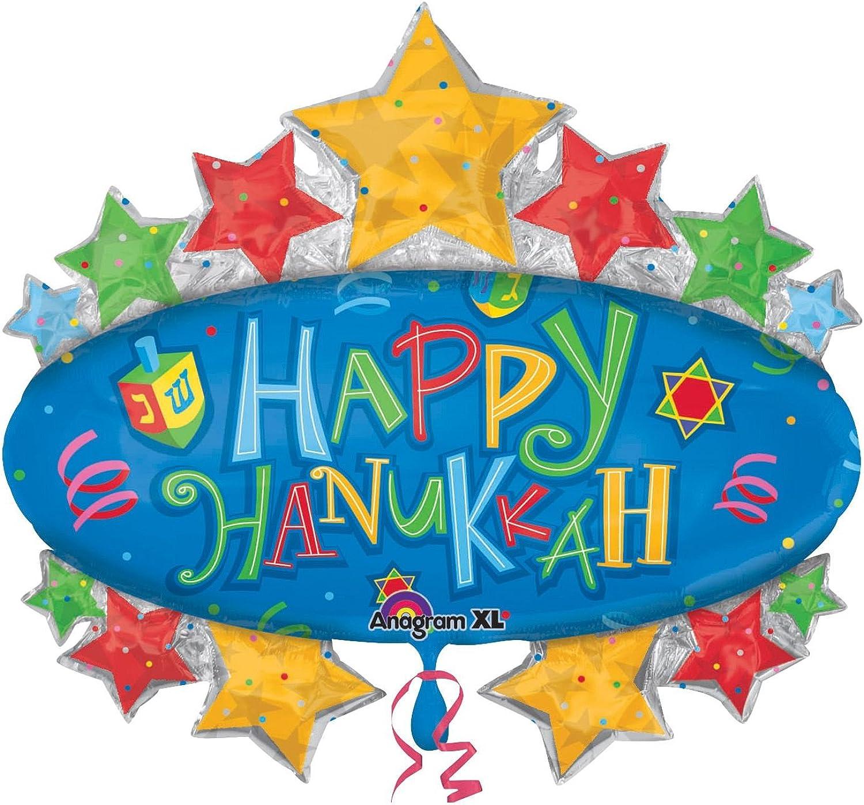31 Inch Hanukkah Marquee Balloon 5pack