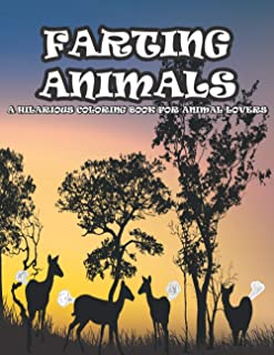 Farting Animals: Jungle Forest and Wild Farting Animals Coloring Book for Children's and Adults