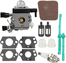 FS 38 Carburetor for STIHL HL45 HS45 KM 55 FC55 FS45 FS46 FS46C FS55 FS55R FS55RC FS45C FS45L FS55C FS55T String Trimmer Weedeater Rep C1Q-S186 with Tune Up Kit